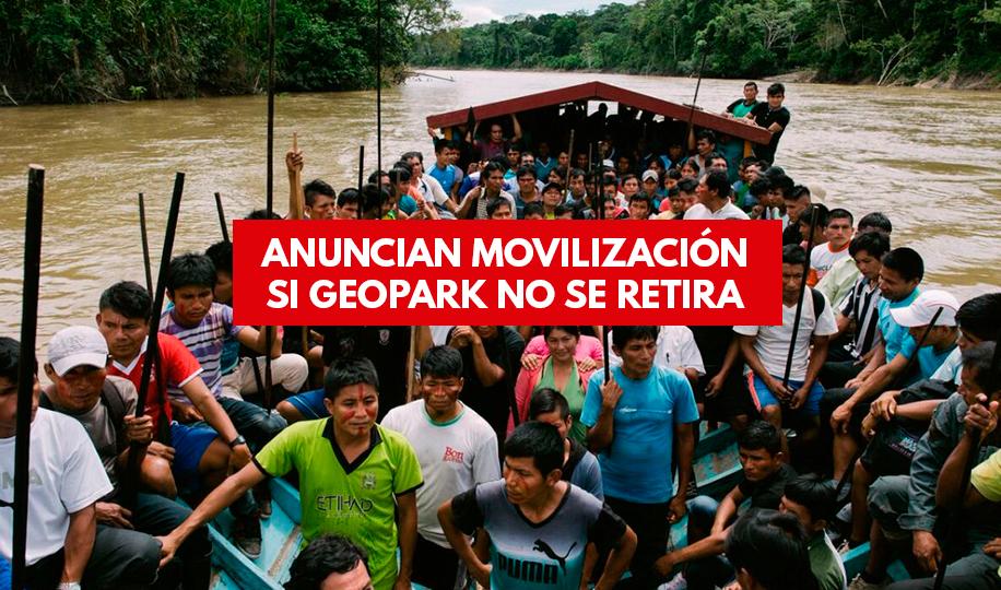 Nación wampis y FENAP anuncia movilización, si Geopark no responde hasta el 20 de febrero