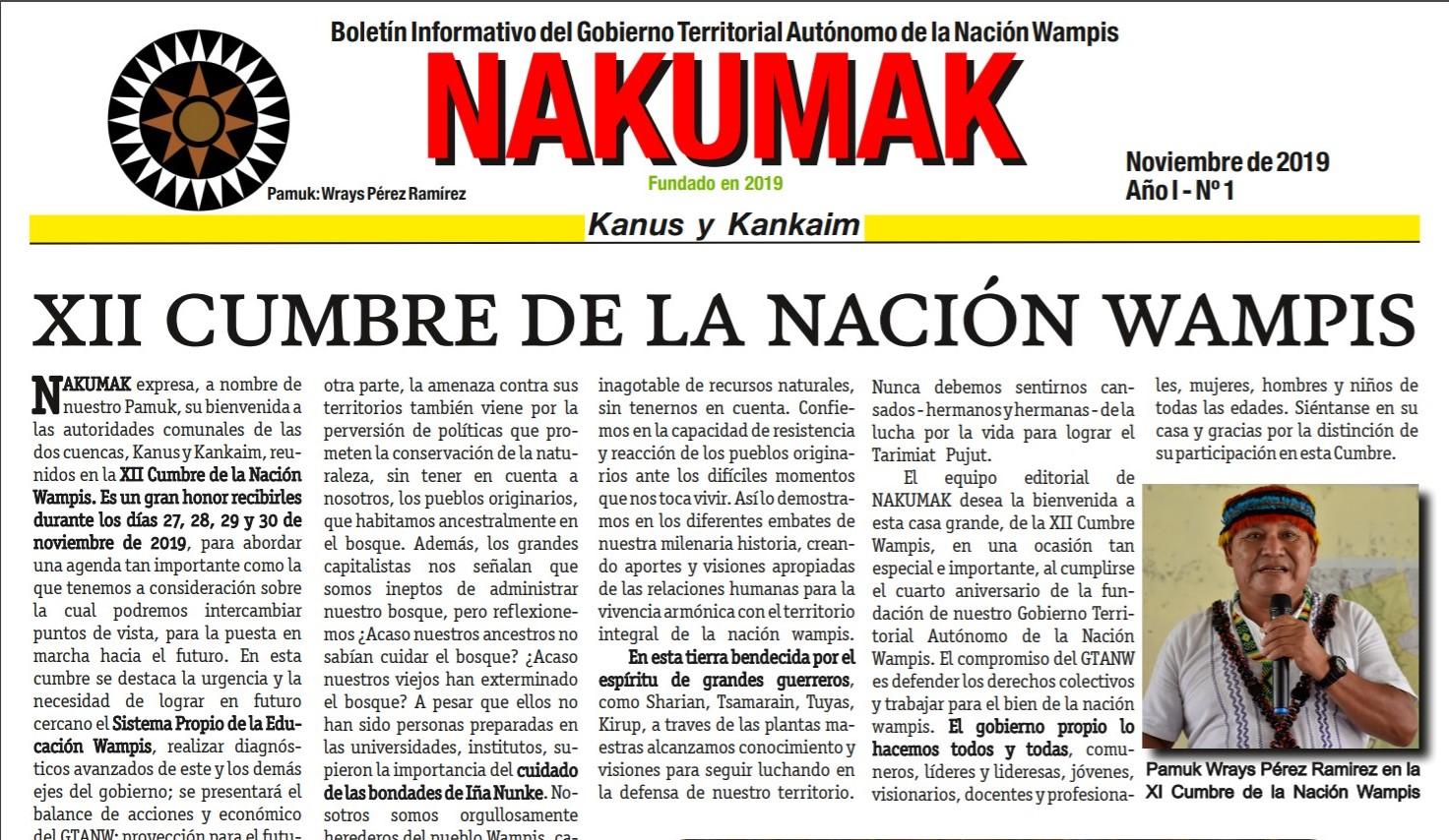 Boletín Informativo NAKUMAK 1