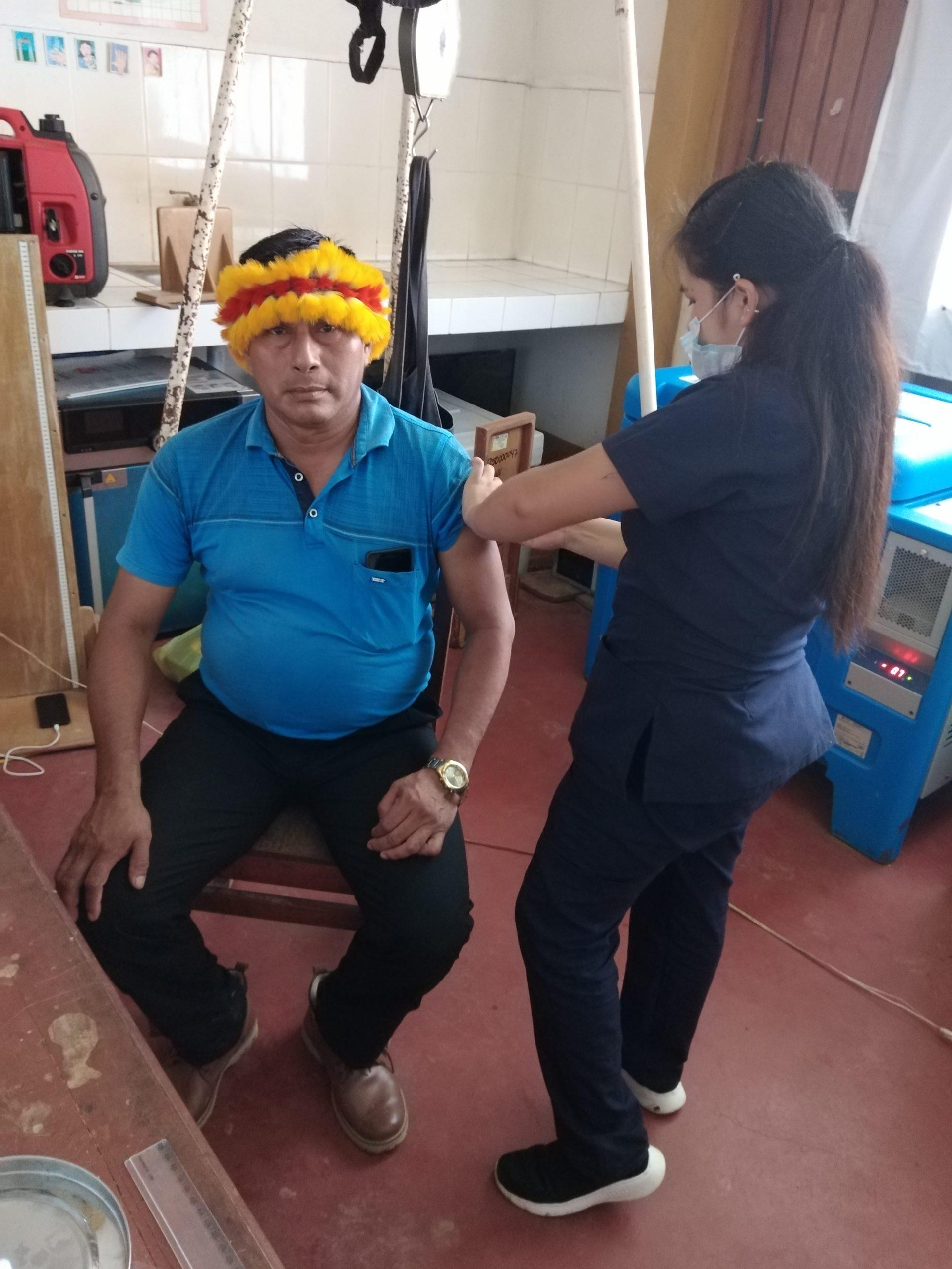 Presidente de GTANW, Teófilo Kukush, fue vacunado con la primera dosis de Sinopharm contra la COVID-19